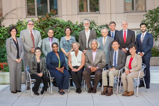 Pictured from left to right are: Andrea Cohen, Carlos Flynn, Duffie Cohen, Dean El-Mohandes, Christopher Paladino, Fred Rich, Muhammad Arshad, Barbara Robles-Gonzalez, Lyndon Haviland, Kahry Lazarre-White, Wellington Chen, Barbara Robles-Gonzalez and  Oxiris Barbot.  CUNY SPH Administrators pictured: Asish Joshi, Nicholas Freudenberg, Michele Kiely