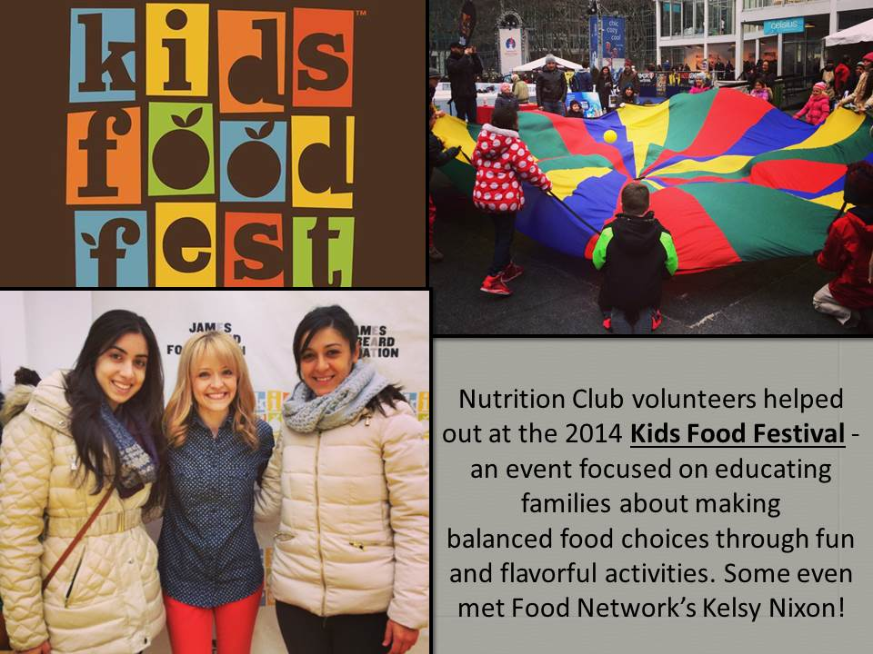 Kids Food Fest an event sponsor by the School of Public Health Nutrition Club.