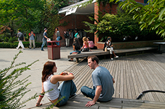 Students at a park in NYC