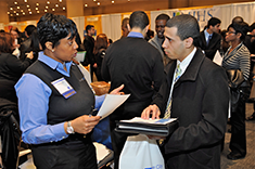 Student Services at a Job Fair.