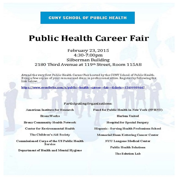 SPH Public Health Career Fair Flyer