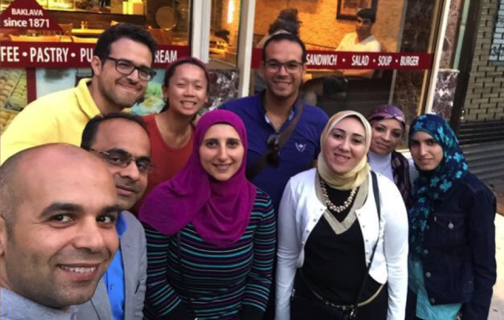 A group of Egyptian Fulbright Scholars visiting CUNY SPH