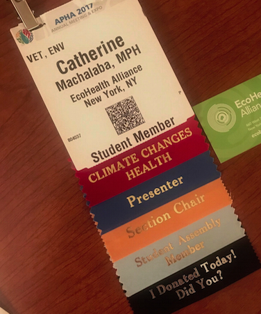 Catherine Machalaba - APHA 2017 Badge
