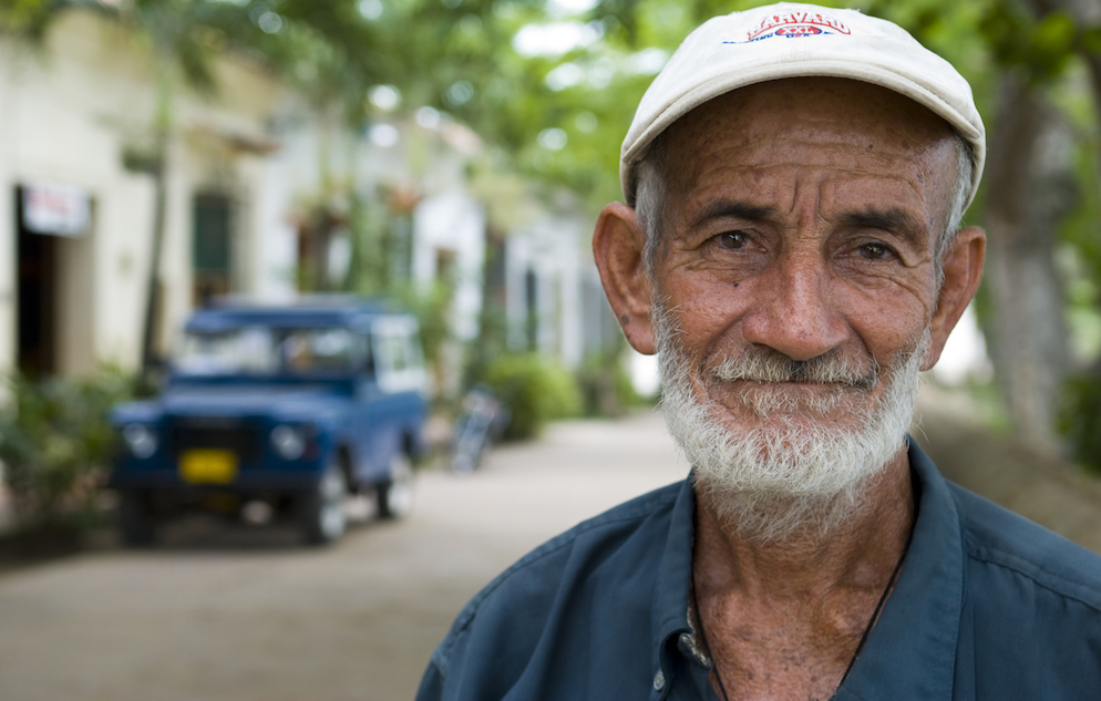 Portrait of a Colombian man in Mompos, Colombia