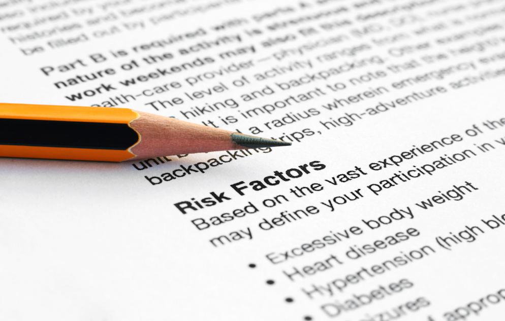Paper listing risk factors