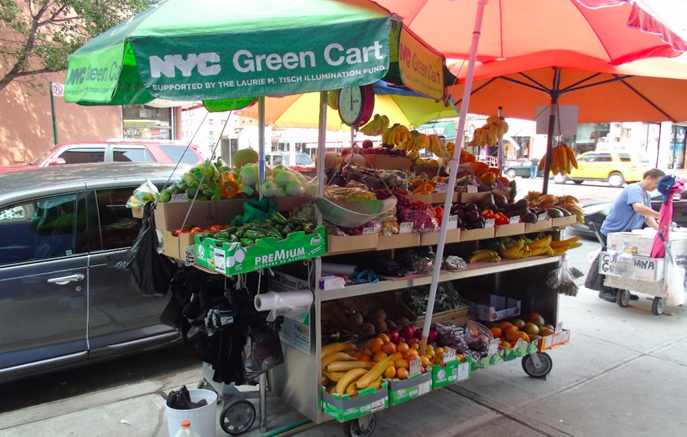 street side produce cart