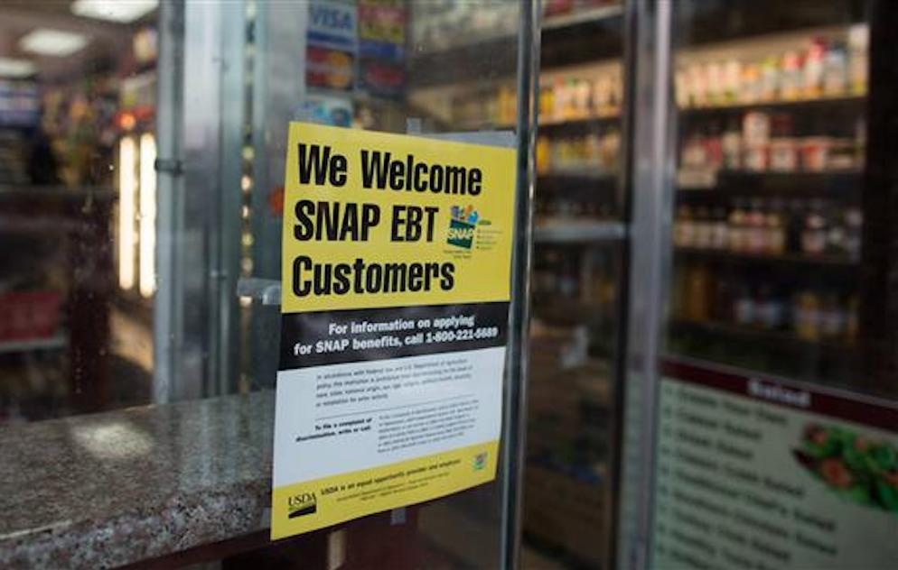 SNAP EBT sign in store window