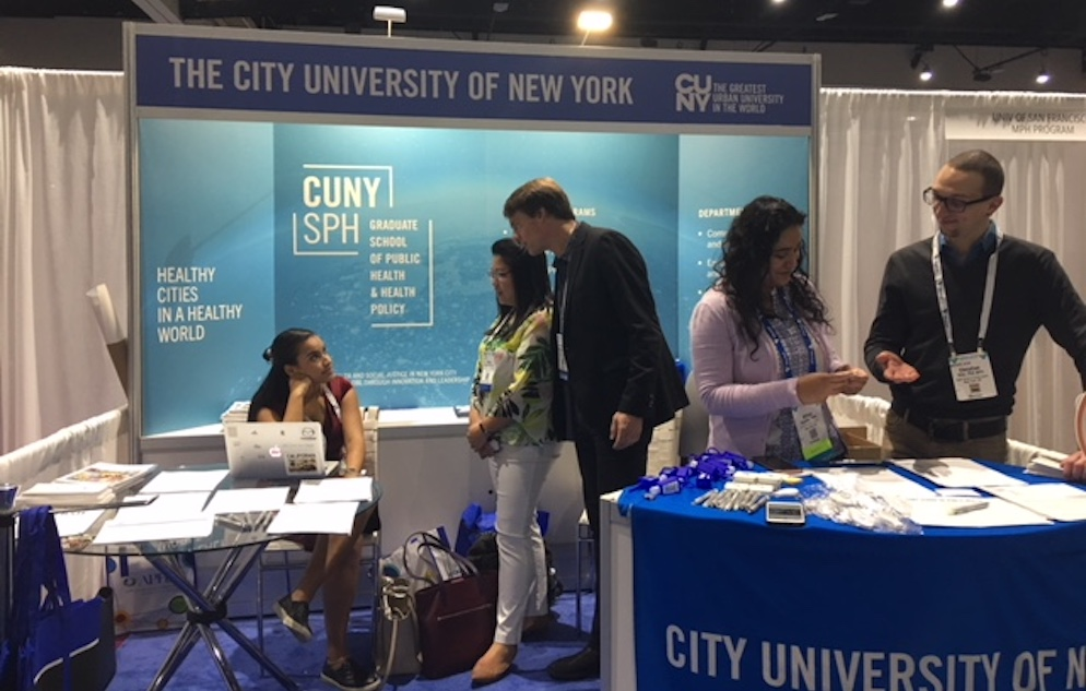 CUNY SPH booth at APHA 2018