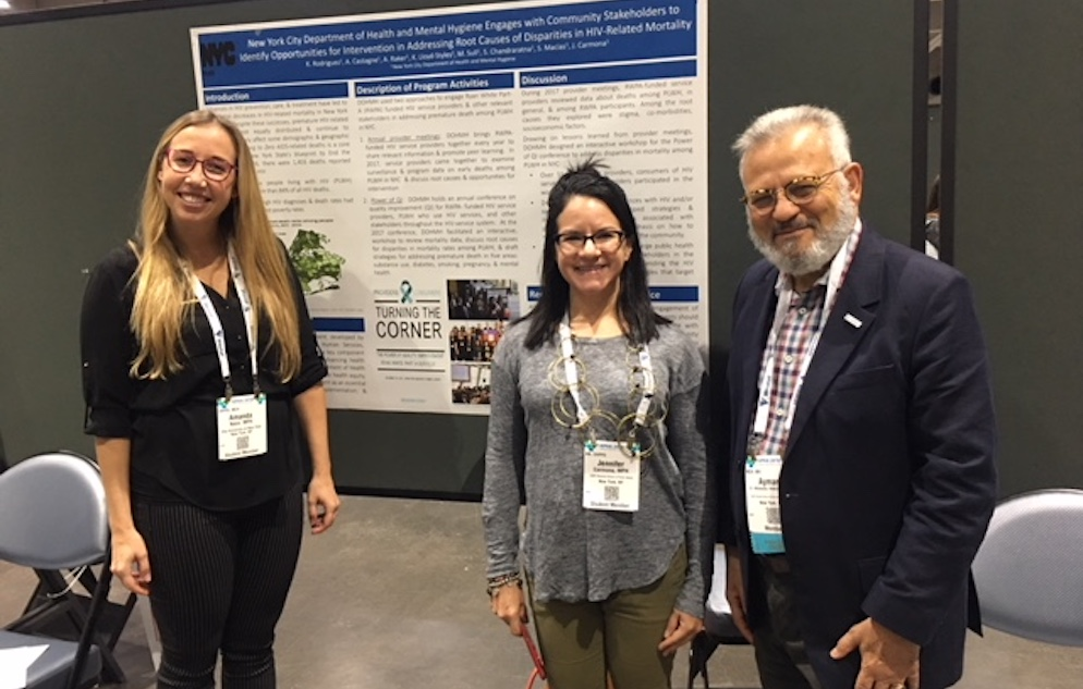Dean and students at APHA