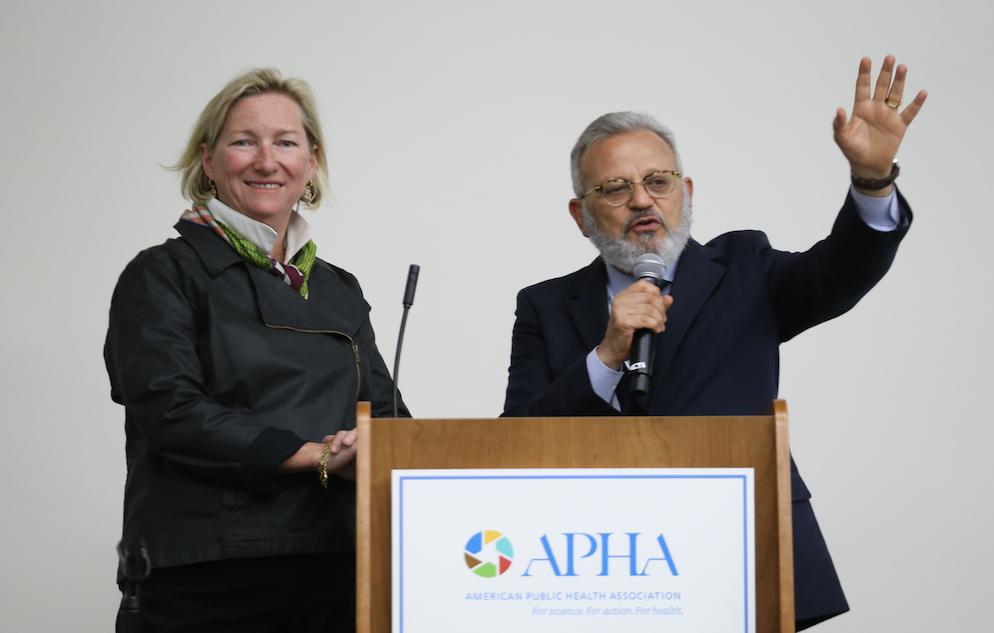 Lyndon Haviland and Ayman El-Mohandes at APHA 2018