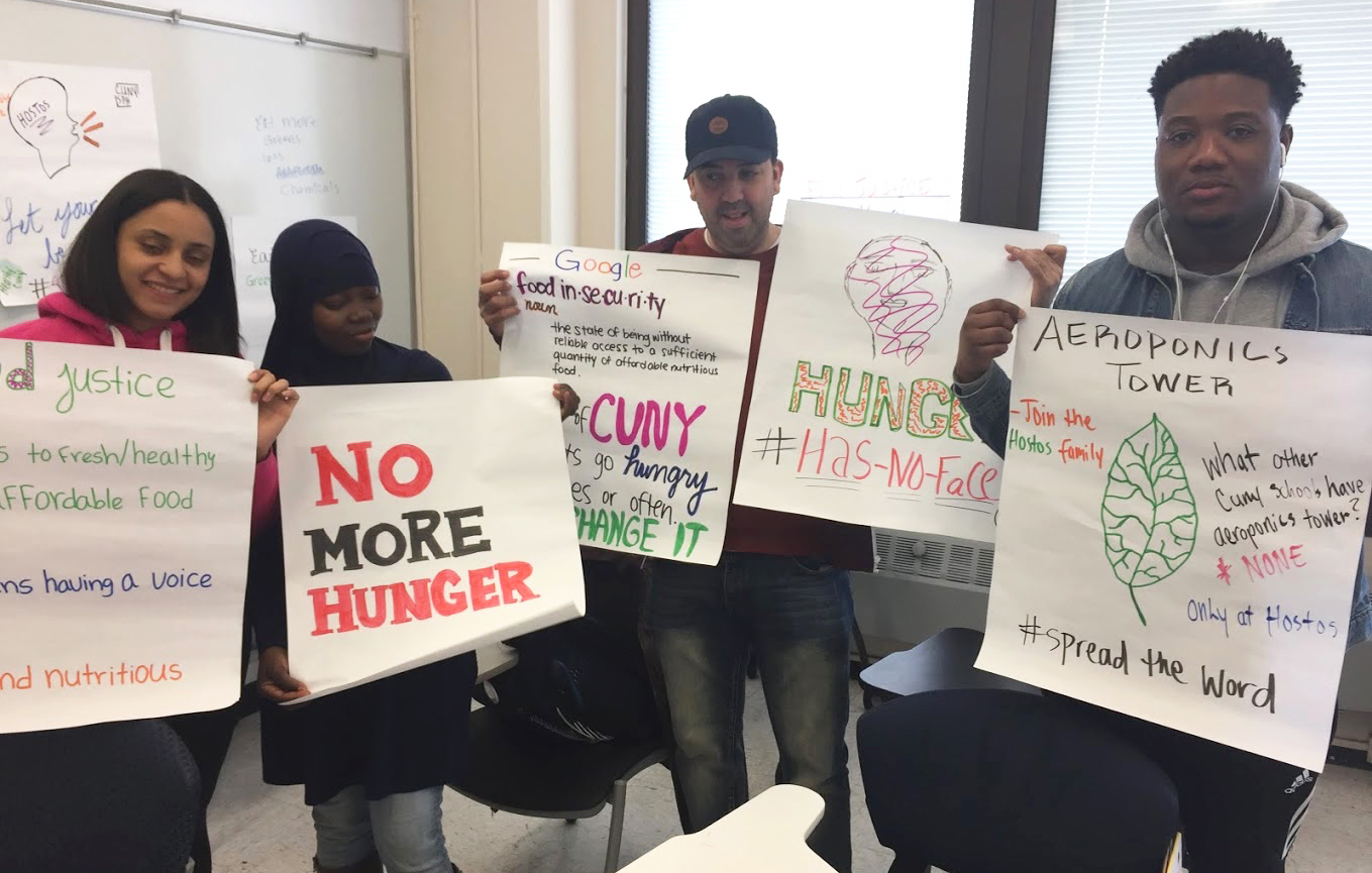 CUNY students protesting student hunger