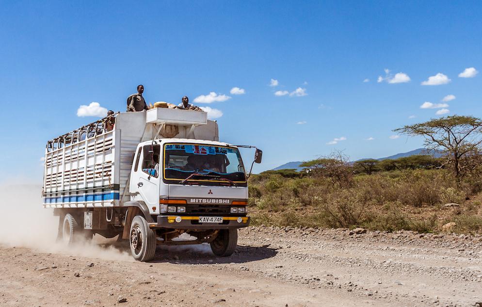 freight truck in Kenya