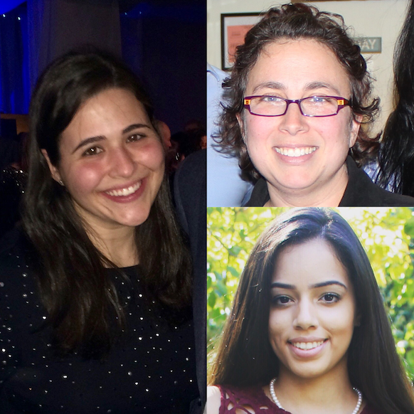 Zoe Heisler (left), Lora Kasselman (top), and Karina Castillo