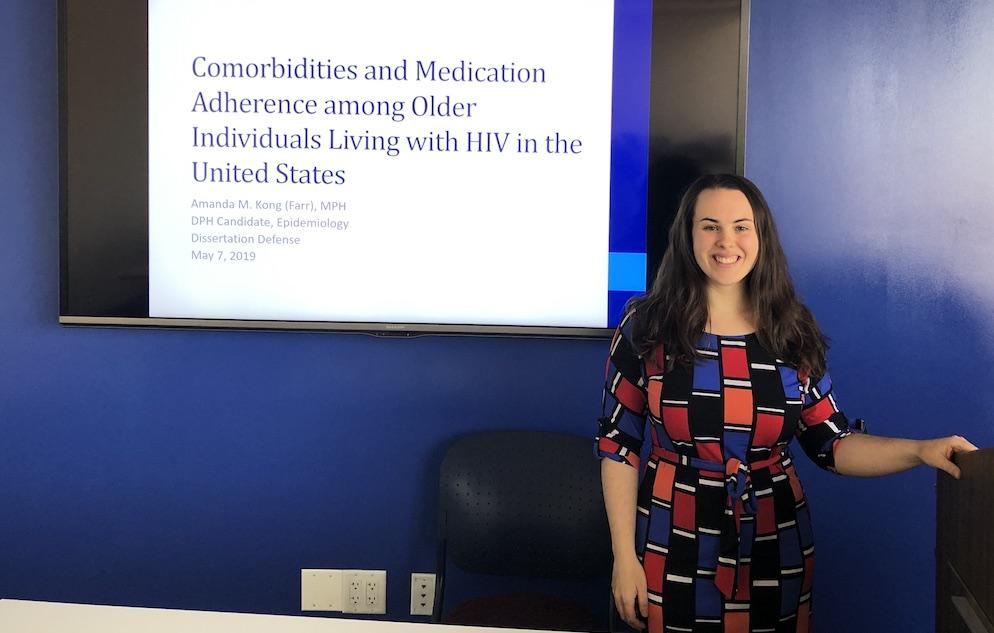 Amanda Kong at her dissertation