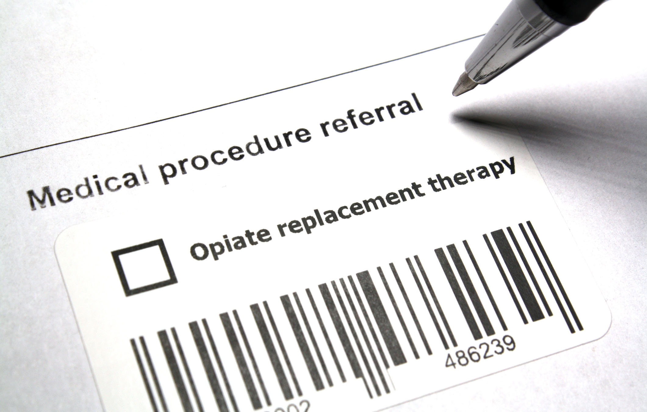 referral for opiate replacement therapy