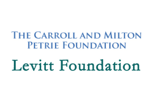logos of the Levitt Foundation and the Carroll and Milton Petrie Foundation