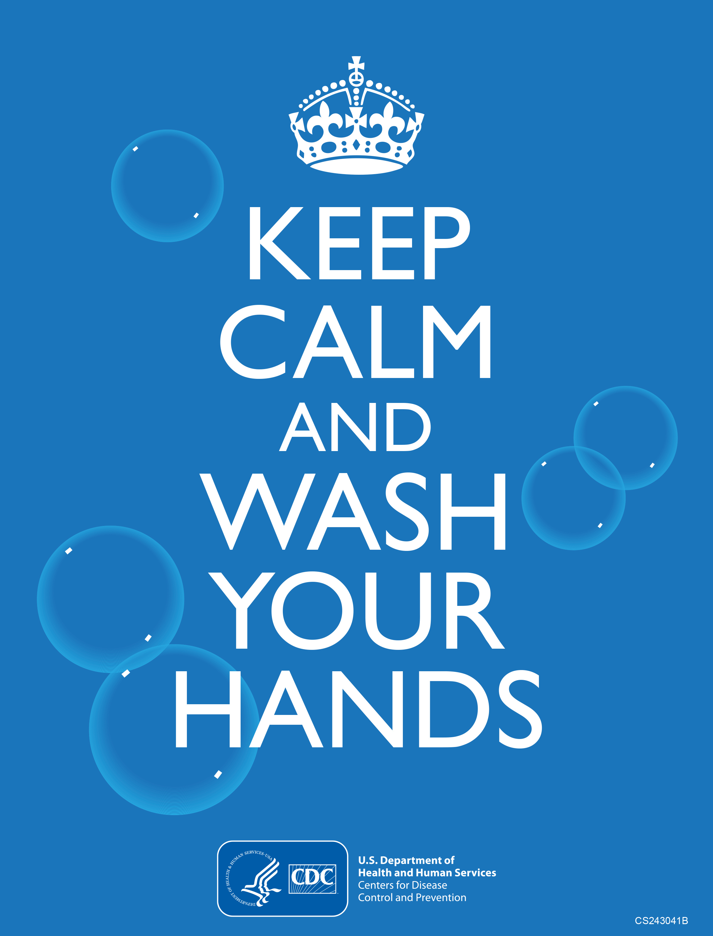 Keep calm and wash your hands graphic