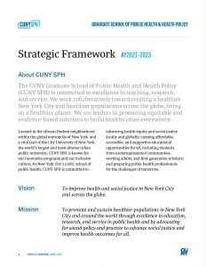 CUNY SPH Strategic Framework