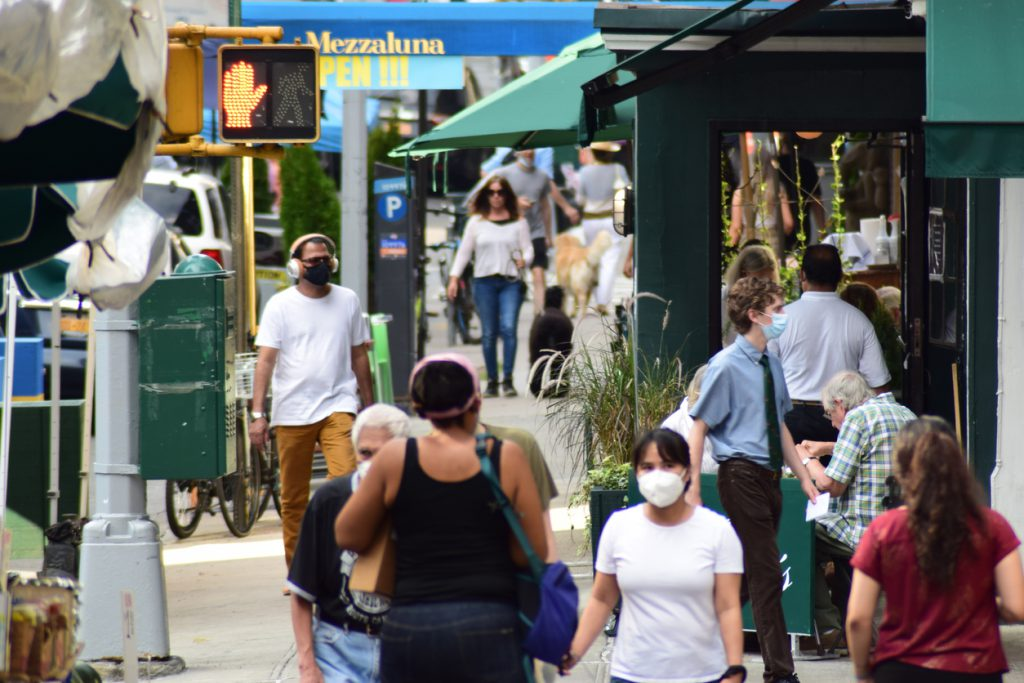 New Yorkers Enjoying a Summer Day in the Upper East Side During Phase III of Covid-19 Pandemic