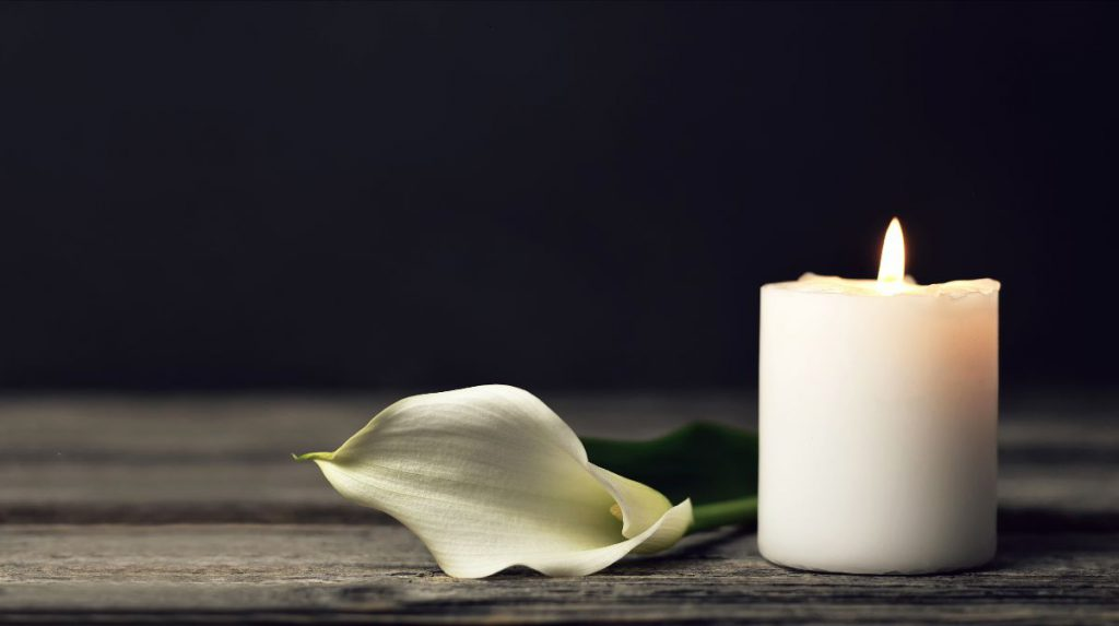 Calla lily wtih candle