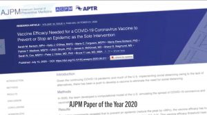 Covid-19 vaccine efficacy study named AJPM's most influential paper of 2020